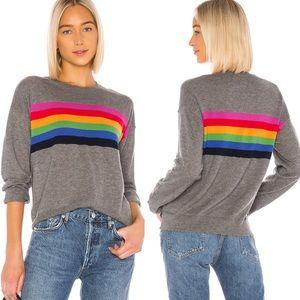 Revolve Sundry Cashmere Rainbow Stripe Sweater XS